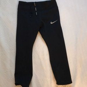 Nike Dri-FIT Black Running Crop Pants